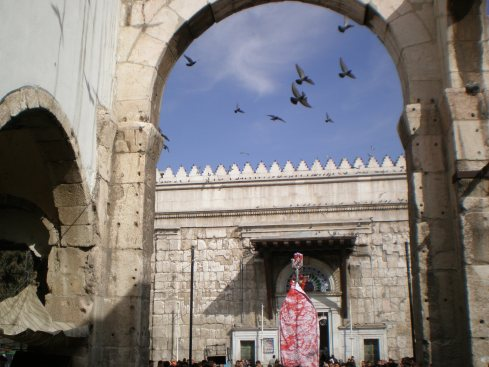 Ruins of Yazid palace and gates of Omayyad Mosque